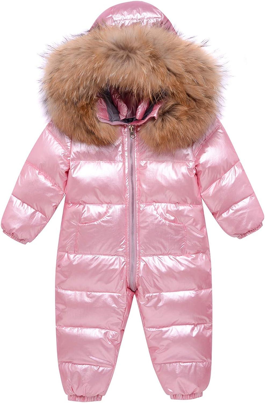 LZH Baby Boy Girls Winter Bodysuit Jumpsuit Coat Hooded Thick Warm Down Jacket Alternative Coats Outerwear