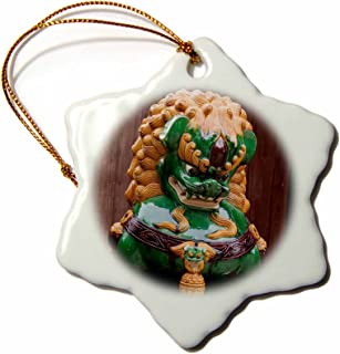 3D Rose Shisa Lion Gods are Deities Said to Bring Good Luck-Okinawa World Snowflake Ornament, 3
