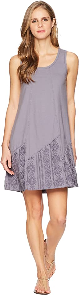 Classic Jersey Embroidered Panel Tank Dress