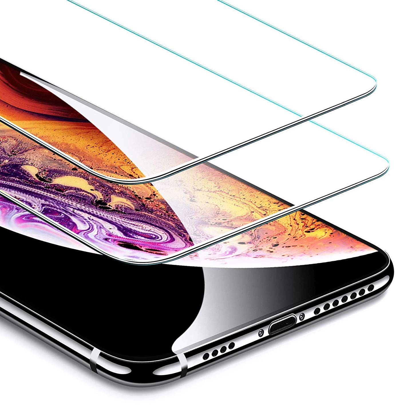 [2-Pack] Screen Protector for iPhone XS Max, iPhone XS Max Tempered Glass Screen Protector 6D Cold Curved Edge to Edge Full Cover Friendly for iPhone XS Max 6.5inch