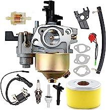 GX160 GX200 Carburetor with 17210-ZE1-517 Air Filter Tune Up Kit for Honda GX120 GX140 GX 160 GX168 GX200 5HP 5.5HP 6.5HP ...