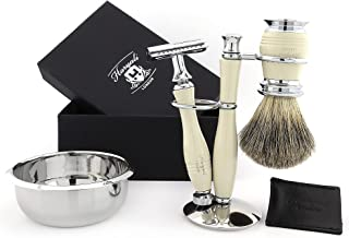 Tradycyjna maszynka do golenia z podwójnymi krawędziami, zestaw do golenia, 5-częściowy zestaw do golenia dla mężczyzn, za...