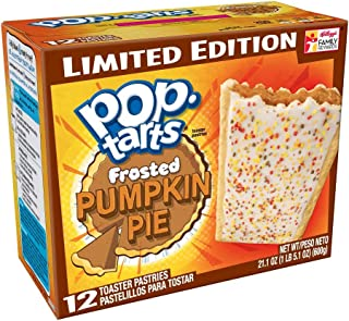 Kellogg's Frosted Pumpkin Pie Pop Tarts Limited Edition 12 Ct - Pack of 2