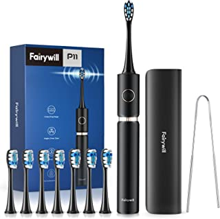 Electric Toothbrush, Fairywill PRO P11 Sonic Whitening Electric Toothbrushes for Adults, 62,000 VPC Motor for a Quiet and ...