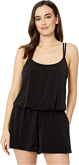 3bad285de357b Calvin klein botanical high neck one piece swimsuit black | Shipped ...