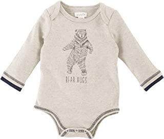 URMAGIC Newborn Baby Boys Clothes Infant Birthday Long Sleeve Onesie Bodysuit Spring Outfits