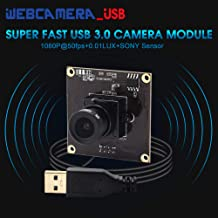 USB Camera Module Full HD 1080P Mini Webcam USB with Cameras with Sony IMX291 Image Sensor,High Speed USB3.0 Web Camera 0.01LUX Low Illumination Camera Board with 3.6mm Lens for Android Linux Windows