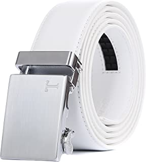 Tonywell Belts for Men Ratchet Belt with Removable Buckle 35mm Leather Belts Custom Fit