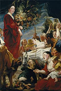 Oil Painting 'Jordaens Jacob Offering To Ceres Ca. 1619 ' Printing On High Quality Polyster Canvas , 24 X 36 Inch / 61 X 91 Cm ,the Best Laundry Room Decor And Home Decor And Gifts Is This High Resolution Art Decorative Prints On Canvas