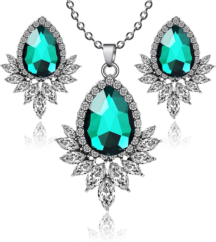 TIAMBING Nippon regular agency Jewelry Sets for and Earrings overseas Women-Teardrop Necklaces