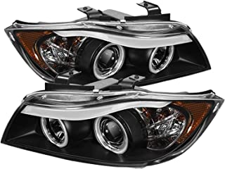 Spyder Auto BMW E90 3-Series Black Halogen CCFL Amber Projector Headlight