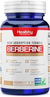 Premium Natural Berberine Supplement 900mg 180 Capsules 3 Month Supply Made in USA Non-GMO - Supports Healthy Blood Sugar ...