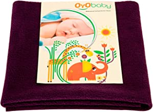 Oyo Baby Quickly Dry Super Soft Waterproof and Reusable Mattress Protector, Large, Plum