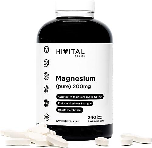 Magnesio puro 200 mg procedente de Citrato de Magnesio | 240 comprimidos (Suministro para 8 meses) | Mejora los siste...