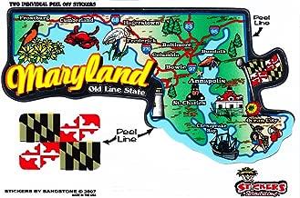 Flagline Maryland - State Map Outline Vinyl Sticker