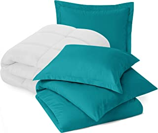Nestl Bedding Comforter and Duvet Set, Down Alternative Comforter, Microfiber Duvet Set - Comforter Cover and 1 Pillow Sham, Twin - Teal