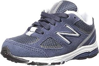 New Balance Boys' 888v2 Running Shoe, Navy/Grey, 4 W US Big Kid