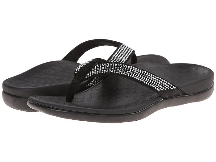 VIONIC  Tide Rhinestone (Black) Womens Sandals