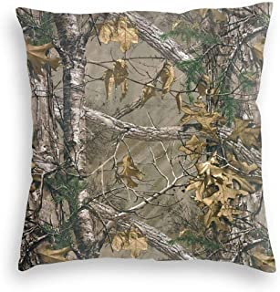 not Home Decor Decorations Realtree Camo Soft Coloful Polyester Decorative Square Velvet Throw Pillow Cover Cushion Covers, for Couch 16