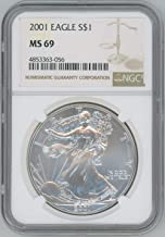 2001 American Silver Eagle $1 MS69 NGC