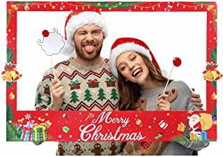 Lansian Christmas Photobooth Props Frame Event & Party Supplies Xmas/Winter/Holiday Party Supplies/Decorations (Assembly Needed)