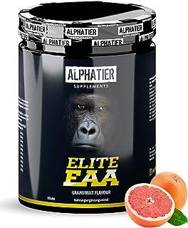 EAA Poeder 500g - HOOGSTE DOSERING - alle essentiële aminozuren - Grapefruit smaak - Alphatier Instant EAAs Poeder - Essen...