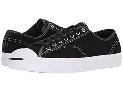 Converse Skate Jack Purcell Pro Ox Skate (Black/Black/White) Athletic Shoes