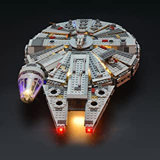 LIGHTAILING Light Set for (Star Wars Millennium Falcon) Building Blocks Model - Led Light kit Compatible with Lego 75105(NOT Included The Model)