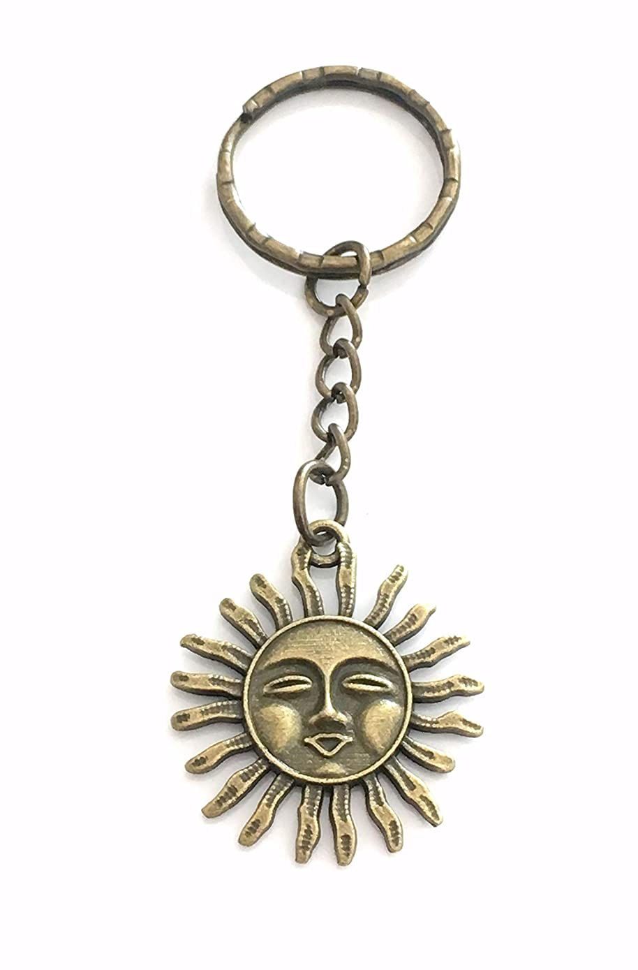 SALE Bronze Sun Keychain, Sunshine Key Chain, Gift for Women or Men - Unisex