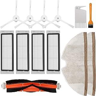 2 Mop TOOGOO Vacuum Filter Replacement Accessories Kit for Roborock E25 S5 E20 E25 C10 S50 Mi,3 Main Brush 4 Filter 6 Side Brush