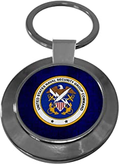 Premium Key Ring with U.S. Naval Security Group Command, obsolete insignia