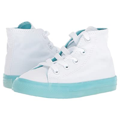Converse Kids Chuck Taylor(r) All Star(r) Jelly Hi (Infant/Toddler) (White/Bleached Aqua/Bleached Aqua) Girls Shoes