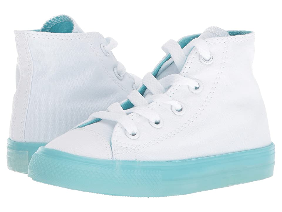 Converse Kids Chuck Taylor(r) All Star(r) Jelly Hi (Infant/Toddler) (White/Bleached Aqua/Bleached Aqua) Girls Shoes