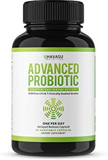 Havasu Nutrition Probiotics Advanced Multi Strain - Supports Digestive & Immune Health with 7 Strains of Good Bacteria - Relieves Gas & Bloating - Delayed Release, Non-GMO, 60 Capsules