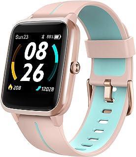 LIFEBEE Smartwatch, Reloj Inteligente Impermeable IP68 para Hombre Mujer, Pulsera Actividad Inteligente con Pulsómetros, M...