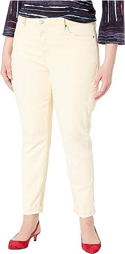 Plus Size Ami Skinny Ankle w/ Cuff in Marigold