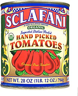 Organic Hand Picked Whole Peeled Plum Tomatoes in 28 Ounce Cans (4 PACK)