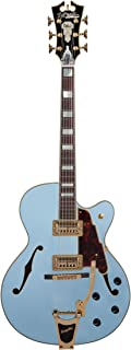 D'Angelico Deluxe 175 Electric Guitar - Matte Powder Blue