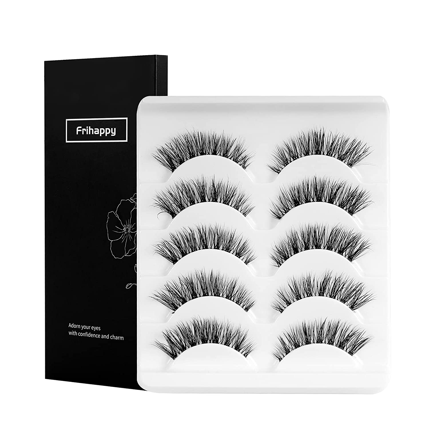 False Eyelashes Wispy Natural Look Lashes Soft Mink Faux Pairs 5 Large special price !! Popular brand