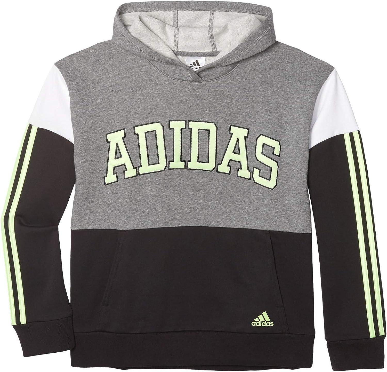 lowest price 4 years warranty adidas Boys' Athletic Hooded Pullover Sweatshirt