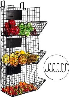Corbeille à fruits de cuisine à 3 étages - Panier de rangement rustique pour fruits - Panier de salle de bain - Panier de ...