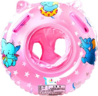 Conbo Baby Swimming Float, Inflatable Swimming Ring with Float Seat for 6 Months-6 Years Children (Pink)