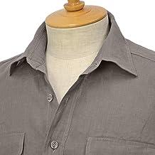 [Giannetto【ジャンネット】]ミリタリーシャツ ALPHA AG833ALP65 005 リネン グレー