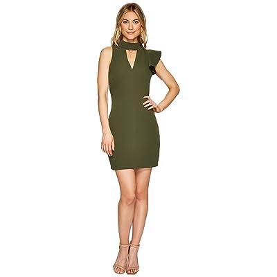 Adelyn Rae Charlotte Bodycon Dress (Olive) Women