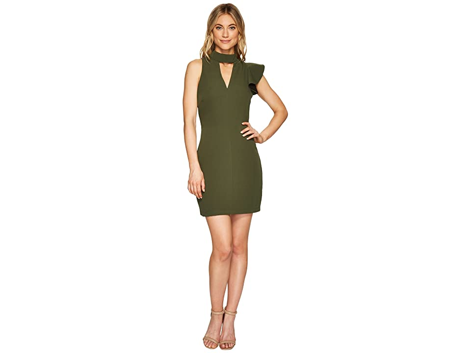 Adelyn Rae Charlotte Bodycon Dress (Olive) Women