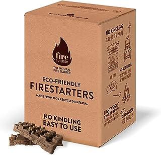 FireBuilder Accendifuoco Ecologico per focolari a Legna, fuochi all'Aperto e Barbecue. Non Sono necessari legnetti o giorn...