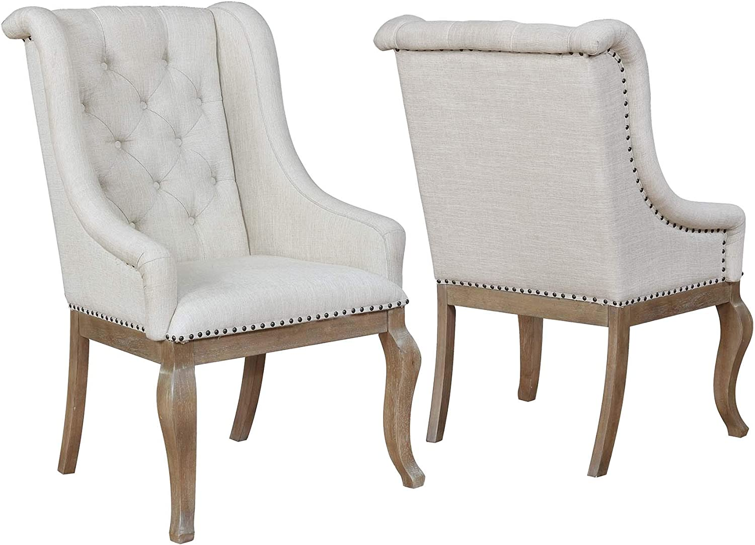 Best for Upholstery: Coaster Home Glen Cove Arm Chair.
