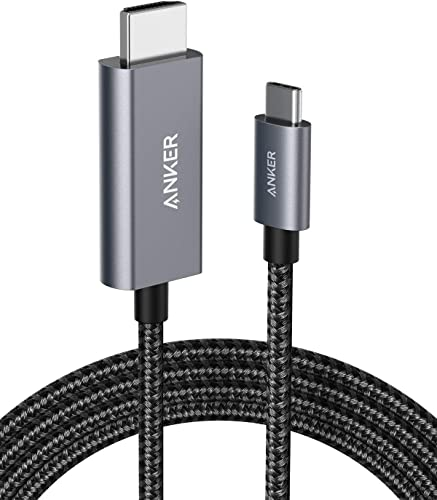 popular USB C to HDMI Cable for Home Office 6ft, Anker Type C to HDMI Adapter Cable online sale 4K 60Hz for MacBook Pro 2020, iPad Pro 2020, Samsung Galaxy S20/ S10, Dell XPS 13/15, and More [Thunderbolt high quality 3 Compatible] online