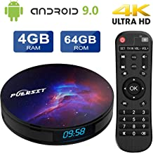 $55 Get Android 9.0 TV Box 4GB RAM 64GB ROM, Android TV Box with RK3318 Quad-Core 64bits Dual-WiFi 2.4G/5G 4K/HD 3D H.265 USB 3.0 BT 4.0 Smart TV Box P9 PRO by Puersit