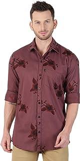 LEVIZO Cotton Designer Printed Full Sleeves Regular Fit Shirts for Men